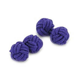 Purple Silk Knot Cufflinks