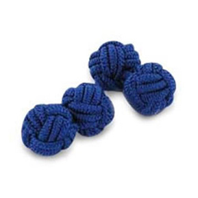 Navy Silk Knot Cufflinks