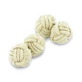 Taupe Silk Knot Cufflinks