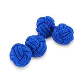 Royal Blue Silk Knot Cufflinks