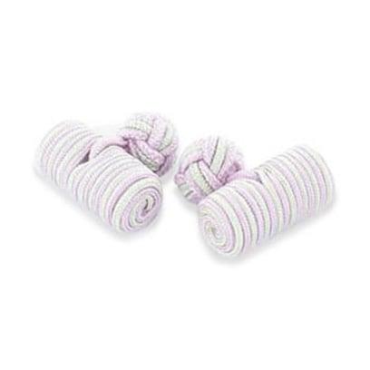 Lilac And Mint Silk Knot Cufflinks