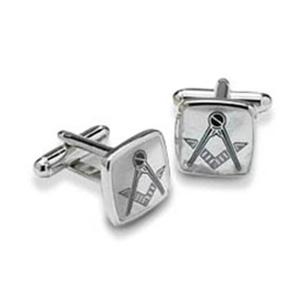 Silver Masonic Cufflinks