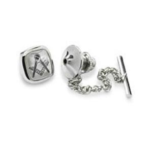 Silver Masonic Tie Pin