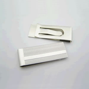Striped And Spotty Silver Money Clip