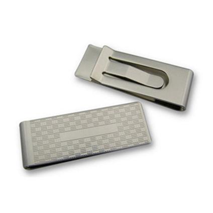 Rectangular Silver Money Clip