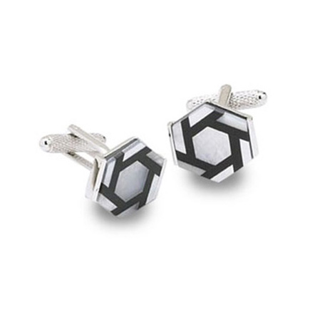 Hexagonal Mop Cufflinks