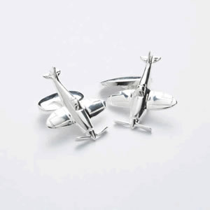 Fighter Plane Chain Cufflinks