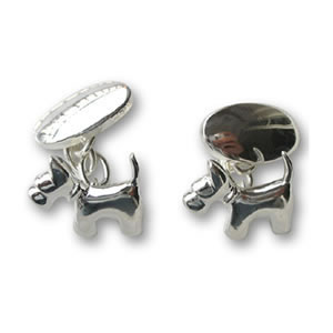 Sterling Silver Scottie Dog Cufflinks