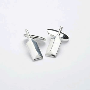 Silver Bat Chain Cufflinks