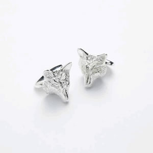 Wolf Head Chain Cufflinks