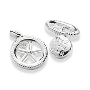 Wheel And Gears Chain Cufflinks