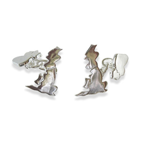Sterling Silver UK And Ireland Cufflinks