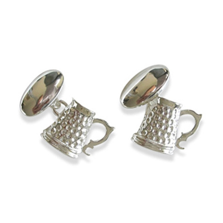 Sterling Silver Tankard Cufflinks