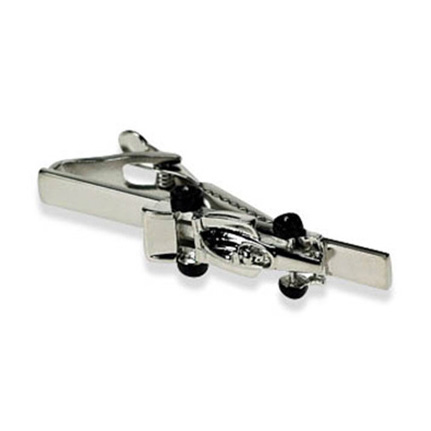 Silver Racing Car Tie Bar