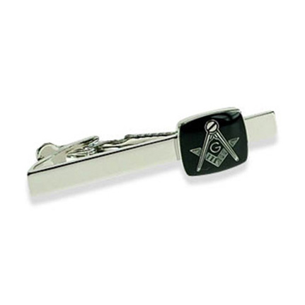 Masonic G Black Tie Bar