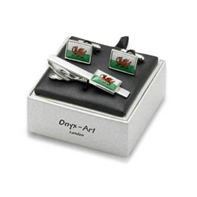 Welsh Flag Cufflinks Box Set