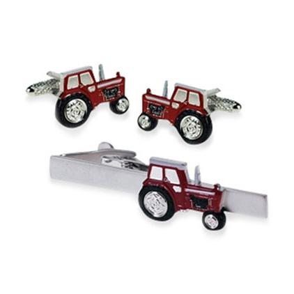 Tractor Red Tie Bar Set