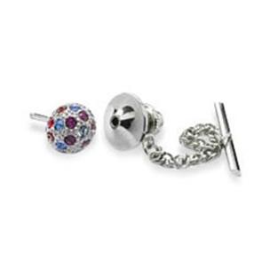 Spherical Crystal Tie Pin