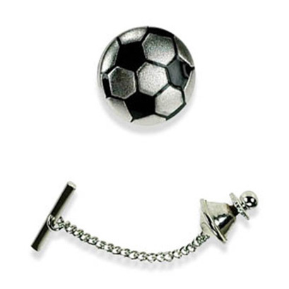 Silver Football Tie Pin