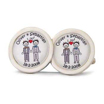 Civil Partnership I Do Character Cufflinks