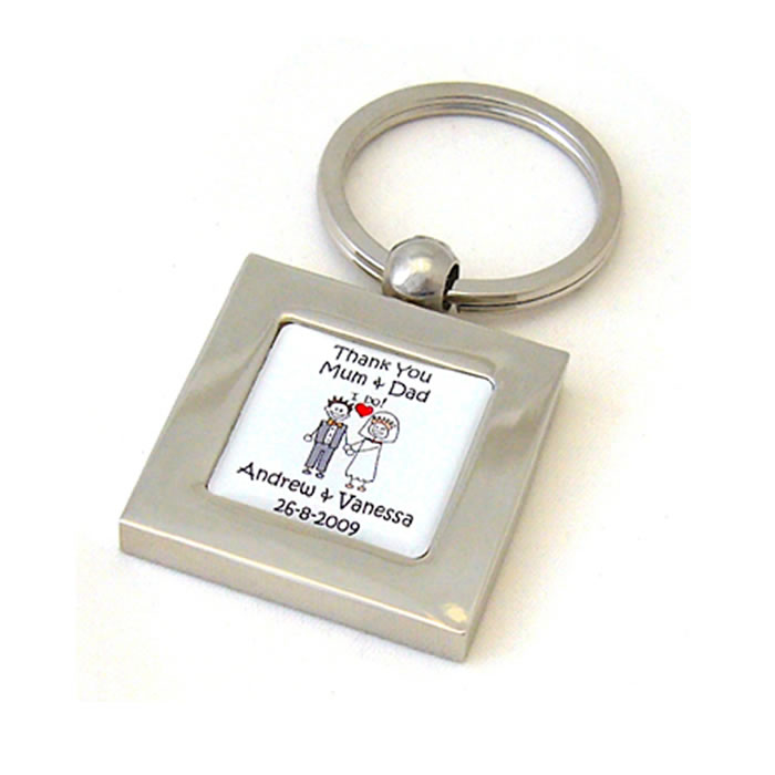 Bride And Groom I Do Personalised Keyring