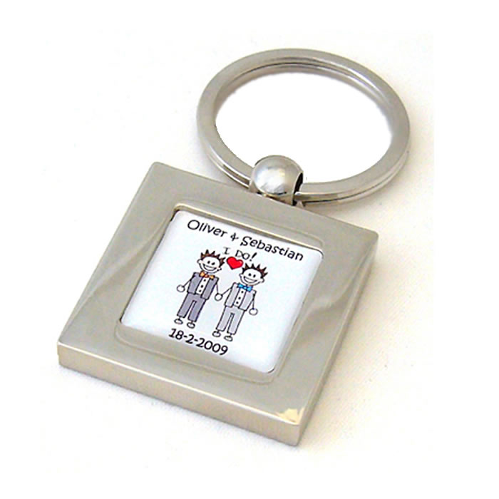 Civil Partnership I Do Personalised Keyring