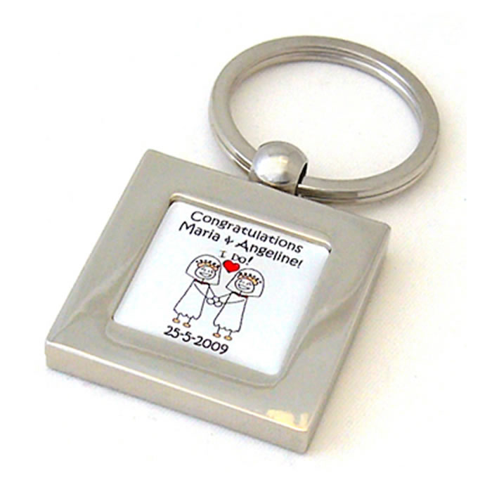 Civil Partnership I Do Brides Personalised Keyring