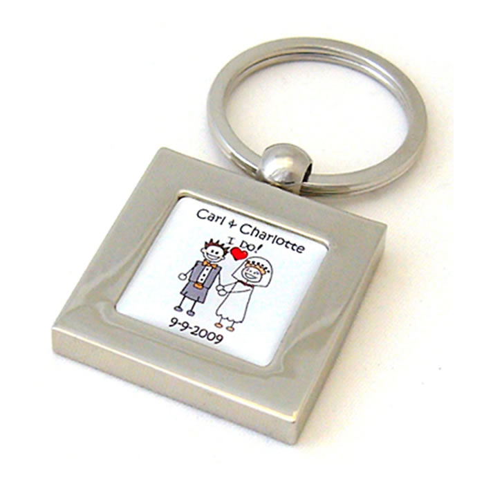 Scottish Kilt I Do Bride And Groom Personalised Keyring