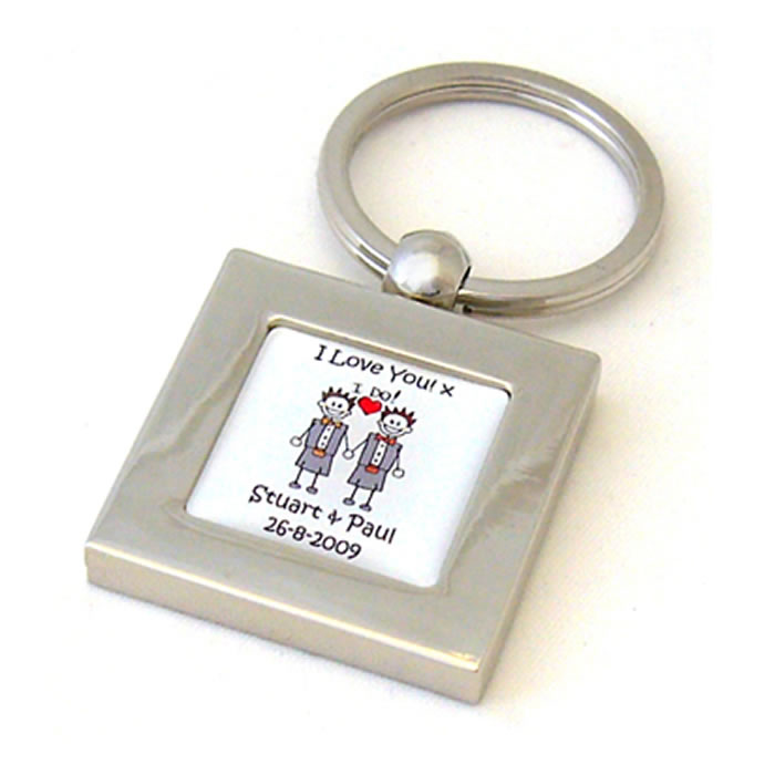 Scottish Kilt I Do Civil Partnership Personalised Keyring