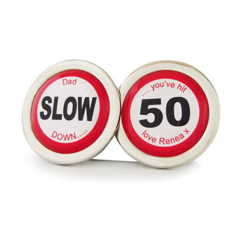 You've Hit 50 Road Sign Cufflinks