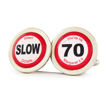 You've Hit 70 Road Sign Cufflinks