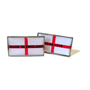 Made In England Flag Cufflinks