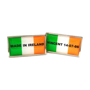 Made In Ireland Flag Cufflinks