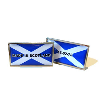 Made In Scotland Flag Cufflinks