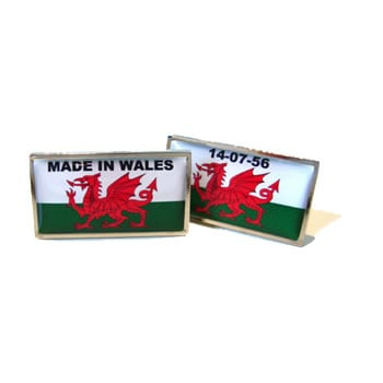 Made In Wales Flag Cufflinks