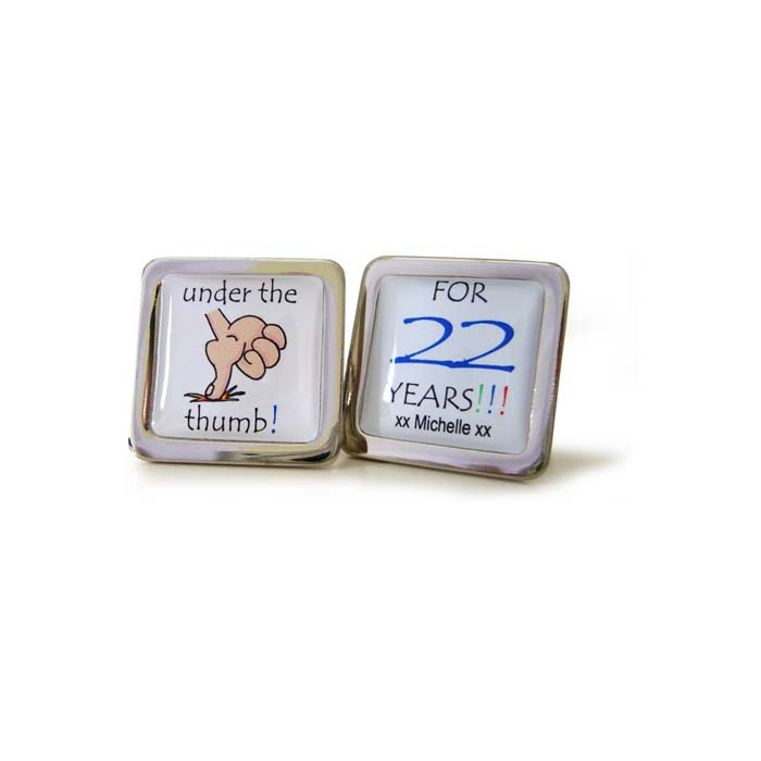 Under The Thumb Personalised Cufflinks