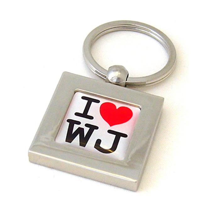 I Love Heart Initial Personalised Keyring
