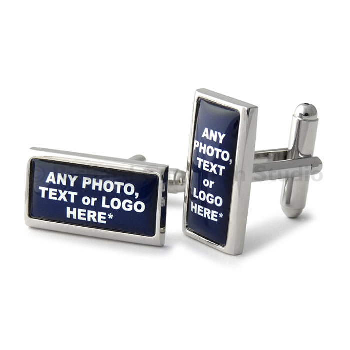Rectangle Personalised Cufflinks
