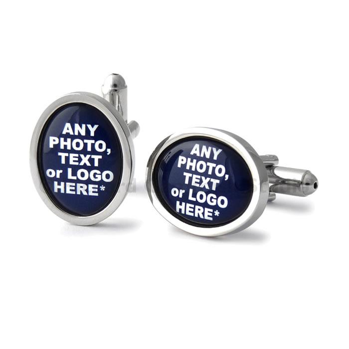 Oval Personalised Cufflinks