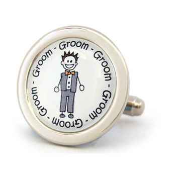 Groom Character Cufflinks