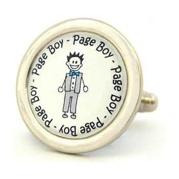 Page Boy Character Cufflinks