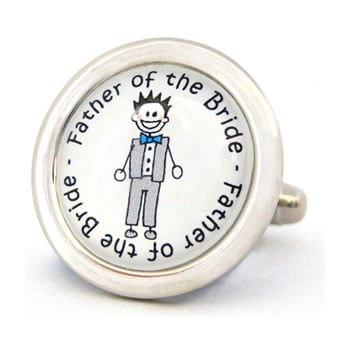 Father Of The Bride Character Cufflinks