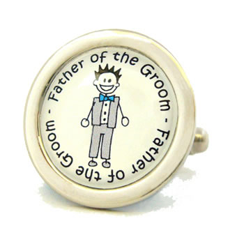 Father Of The Groom Character Cufflinks