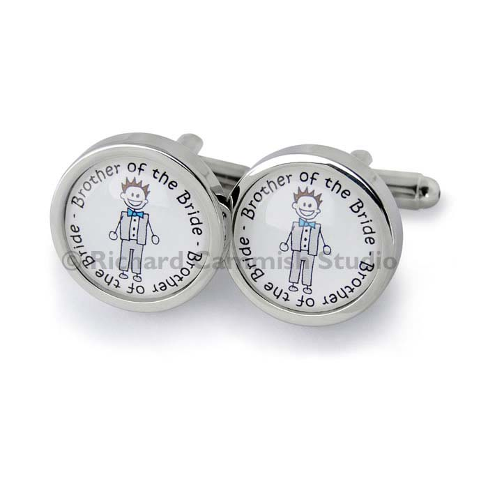 Grandfather Of The Bride Circular Cufflinks