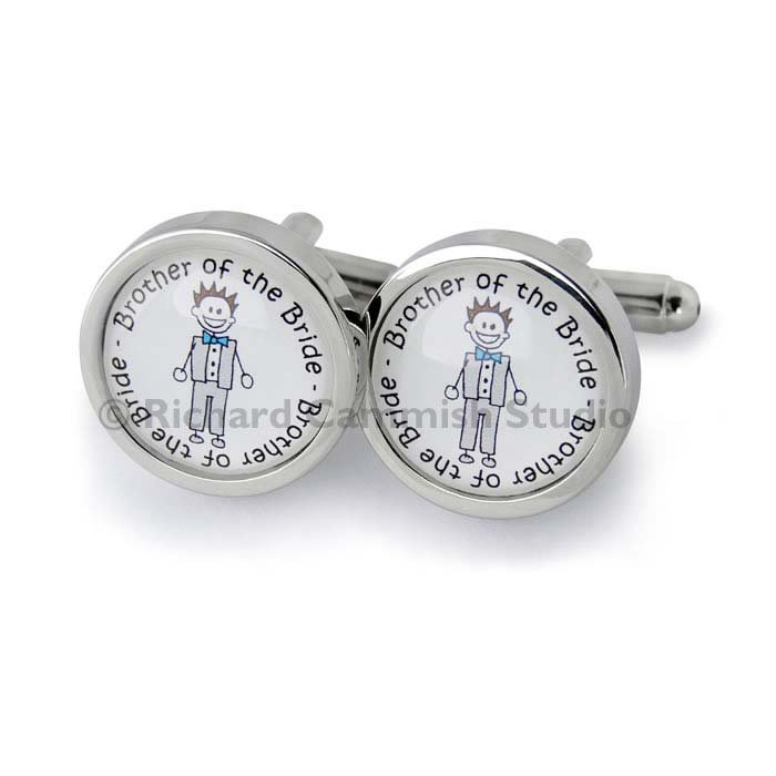 Stepfather Of The Groom Character Cufflinks