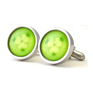 Cool Cucumber Round Cufflinks