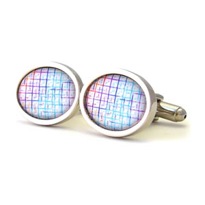 80S Electro Pastel Oval Cufflinks