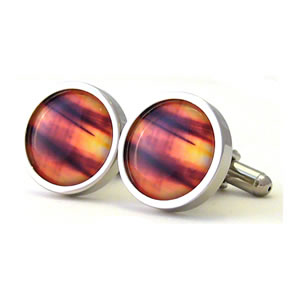 They Came To Take Us Illusion Round Cufflinks