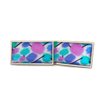 Pastel Swatches Rectangle Cufflinks