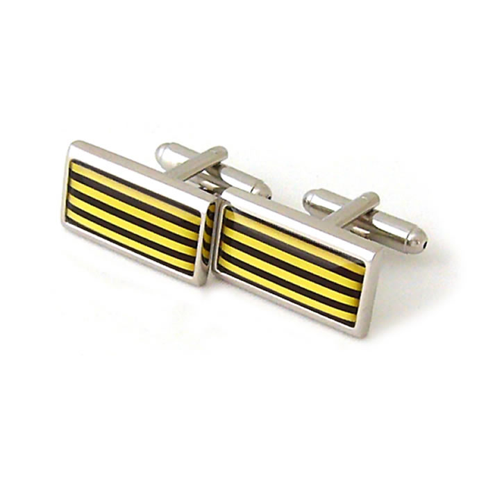 Yellow Humbug Cufflinks